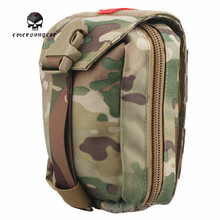 Emerson Military First Aid Kit Medic Pouch Molle Military Airsoft Paintball Combat Gear EM6368 Multicam AOR Khaki Black