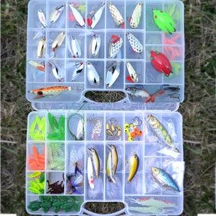 151PCS  lure set weest black horses mouth white paillette soft bait lure fishing lure set<br>
