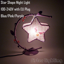 Star Shape Table Lamp Children room night light children birthday gift Personalized Home Decoration Light EU Plug Free Shipping