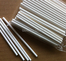 150mm*4mm Pop Sucker Sticks Chocolate Cake Lollipop Lolly Candy Making Mould White 100 pcs(China)