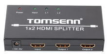 1x2 1 Port HDMI Powered Splitter Ver 1.3 Certified for Full HD 1080P & 3D Support (One Input To Two Outputs)