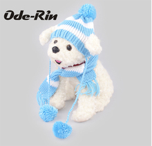 Ode-Rin New winter warm dog wool hat scarf a pet hat collar dog show MOE act the role ofing is tasted Dress up fashionable dog