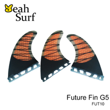 Quihas Carbon Fibreglass Future Fin G5 Size Orange Green Surf Barbatana Fins Surfboard Fin Surfing Fins prancha quilhas de(China)