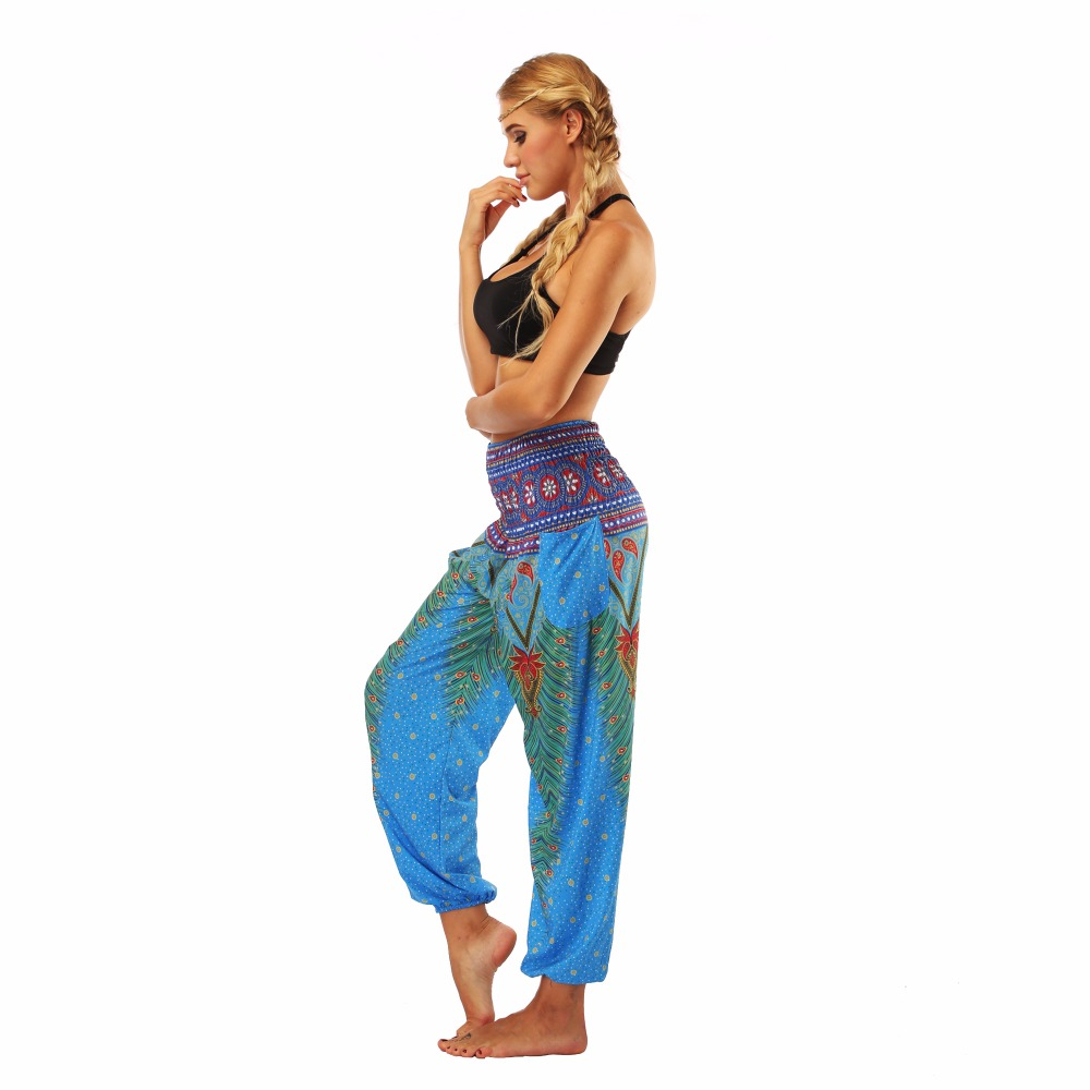 TL002- blue loose yoga pant legging (6)
