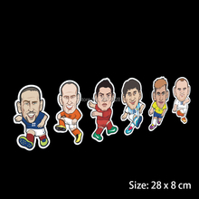 Car-styling Car Covers European Cup Car Sticker Football Soccer Player For Ford Chevrolet Cruze VW Mazda Kia BMW Volkswagen(China)