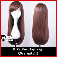 HSIU NEW High quality D.Va cosplay wig Overwatch Game OW cowtume play wigs  Halloween costumes hair free shipping