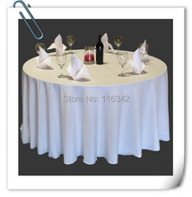 "Big Discount & Factory Price!!! 132"" Dia Visa Polyester White Table Cloth 10pcs Round FREE SHIPPING MARIOUS(China)"