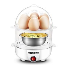 Double layer Multi-function Electric Egg Cooker Boiler Stainless steel power-off Steamer Cooking Tools Kitchen Utensil