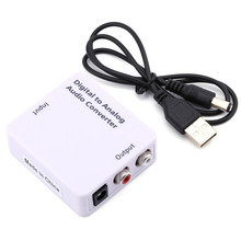 Optical Audio Cable RCA Converter Adapter Toslink RCA Cable Optical Signal to Analog Audio Converter Adapter(China)
