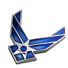 D USAF Air Force Wings Airman Metal Car Auto Emblem sticker decal badge Blue For Audi Honda Benz Ford etc Universal Use