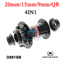 NOVATEC MTB DISC Hub Front for DH, AM, FR, QR/ 9MM/ 15MM/ 20MM, D881SB, 28 32 Holes Black Red