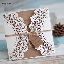 50pcs laser cut wedding invitations cards tags vintage wedding bridal shower gift greeting card kits event party supplies decor