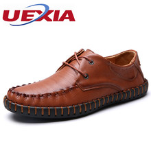 PU Leather Loafers Breathable Casual Sport Flats Handmade Men leather Shoes Slip-On Manual Sewing Botines Hombre(China)