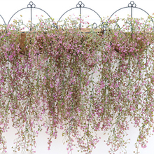 Fake Leaf Plants Floral Decor Artificial Flowers Hanging Garland Vine Plant Garland for Wedding Home Decoration(China)