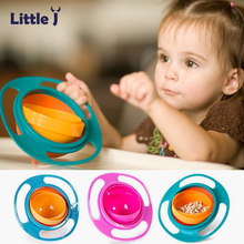 Children Universal 360 Rotate Spill-Proof Bowl Dishes Kid Baby Avoid Food Spilling Feeding Bowls Practical Dinnerware Tableware(China)