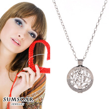 2017 Famous Tree of Life Sumsoar Coin Pendant Necklace Set for Valentines Gift 1 Set(China)
