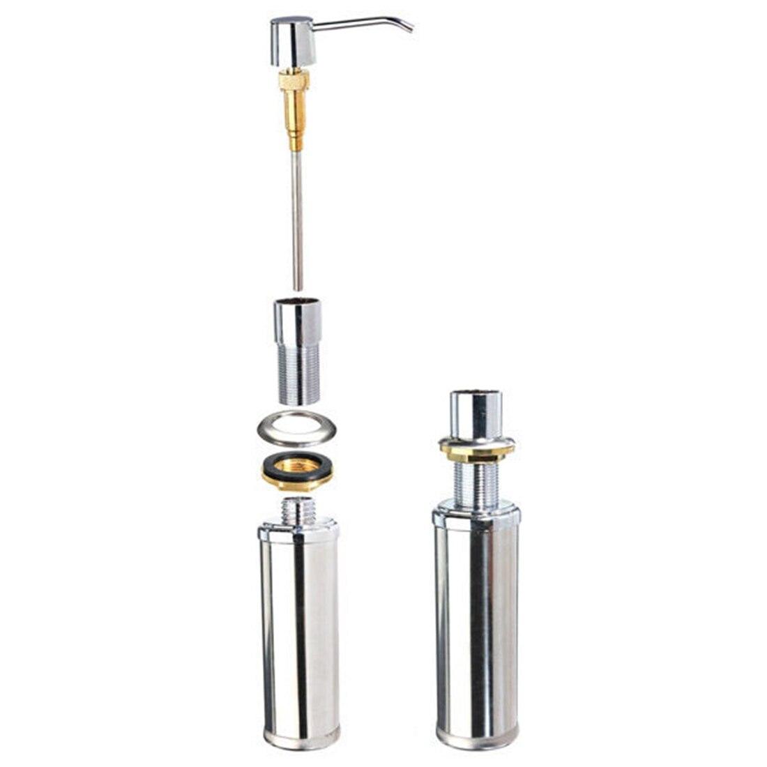 Soap Dispenser Kitchen Sink Faucet Bathroom Shower Lotion Shampoo Pump 350ML Silver