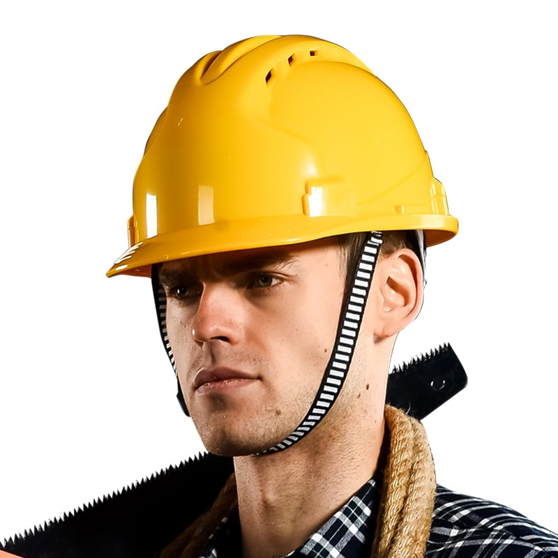 Hot Sell ABS yellow white safety helmet working construction engineer work protective hard hat orange safety helmet OEM logo<br>