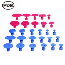 PDR 28 pcs Suction Cup Glue Tabs DIY Auto Paintless Dent Removal Body Repair Tool Kits Pdr Puller Sets Pro Glue Puller Tabs