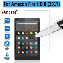 Premium Quality Tempered Glass For Amazon Fire HD 8 2017 Tablet Screen Protector For Amazon Fire HD 8 2017 Cover Case(China)