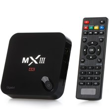MXIII-G TV Box 1000M Ethernet 4K 2K H.265 Google TV Player Android 5.1 Amlogic S812 Quad Core WiFi HDMI With AV TF Card Input