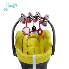 Cute Spiral Activity Stroller Car Seat Cot Lathe Hanging Babyplay Travel Toys Newborn Baby Rattles Infant Toys(China)