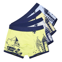 Buy 2 Pcs/lot Soft Organic Cotton Children's Teenager Boys Shorts Panties Baby Boy Stripes Underwear Colorful Kids Underwear 2-16y for $5.80 in AliExpress store