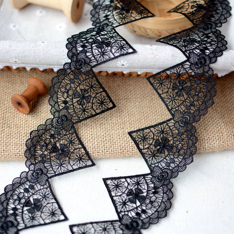 Тайвань Изысканный вышивка растворимые в воде кружева украшения diy платье занавес украшения аксессуары 1 м длина(China)