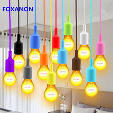 Modern Color E27 Pendant Light Fireproof Silicone Art Single Head Pendant Lights For Vintage Bar Restaurant Bedrooms lamps