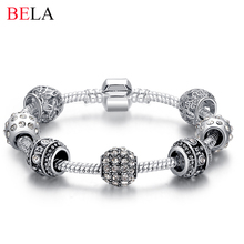 925 Sterling Silver Charm DIY Beads fit pandora Bracelet for Women Fashion Jewelry Original Bracelets Gift(China)