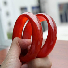 Natural 5A Grade Red Agate Jade Bangles,Thicken And Widen,Birthday Present,Women's Festival,Take owner good luck.Free Shipping