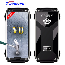 Vkworld Crown V8 mobile Phone IR Blaster Intelligent Bluetooth Japan Self-Healing Coating Engineering Zn-Mg Alloy Mobile tracker