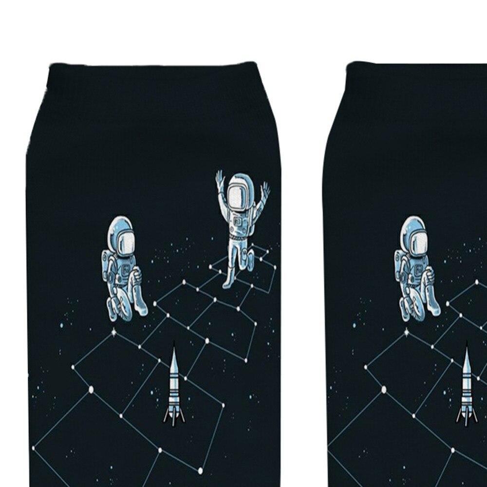 2018-astronauta-3D-dise-o-impreso-divertido-Calcetines-para-las-mujeres-Low-Cut-ankle-Happy-Calcetines (3)