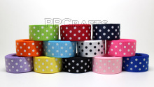 "Free Shipping 20 yards 5/8""(inch) 16 mm  Polka  Dots Grosgrain Ribbon Lots for Hair Bows 10 Color Mixed"