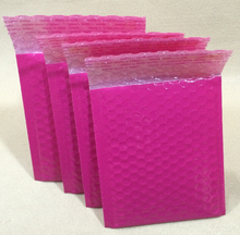 Qin,12.16 pink Bubble Envelopes Wrap Bags Pouches packaging plastic Mailer Packing package pink Packaging Courier Bags(China)