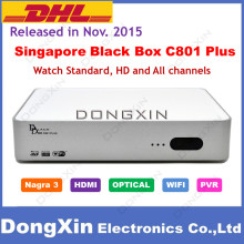 Latest Model starhub cable tv box BlackBox C801 Plus for Singapore Upgrade of C801 HDC600 Support Nagra3 Watch HD Channels