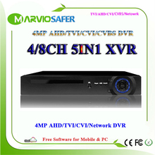 8CH 4/8 Channells 4MP 1080P AHD-HP TVI CVI AHD DVR AVR XVR HVR Video Recorder Built in Audio-in and Audio out Interface HDMI(China)