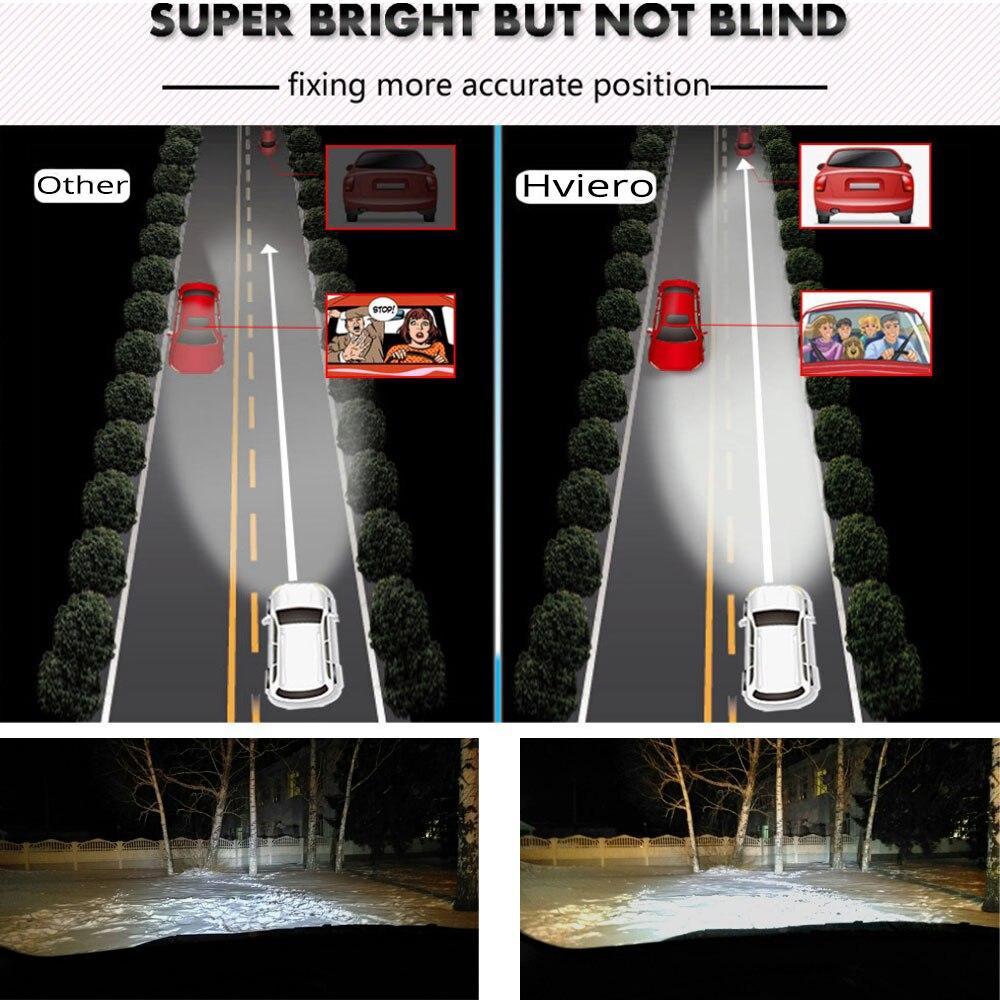 Hviero Car Led Headlights C6 H4 9003 72W 8000lm IP65 Auto Front Bulb High Low Beam Automobile Headlamp Fog Light DC 12V Car Lighting