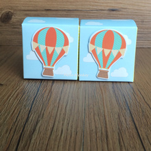 100pcs Hot Air Balloons Style Baby Shower Square Shape Chocolate Candy Boxes Guest Return Present Gifts Box 5*5*5cm