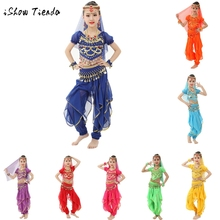 Chiffon Handmade Children Girl Belly Dance Costumes Kids Belly Dancing Egypt Dance Cloth outfit (not include veil&accessories)(China)