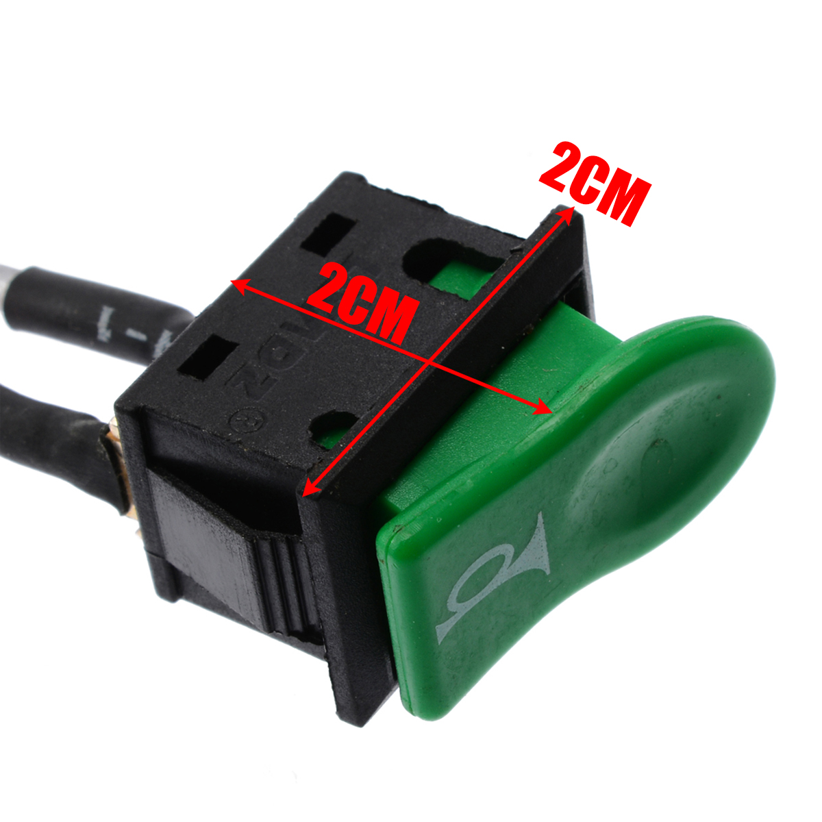 Mayitr ABS Plastic Green Momentary Push Button Car Horn Switch Button Universal for Car Motorbike E-bike
