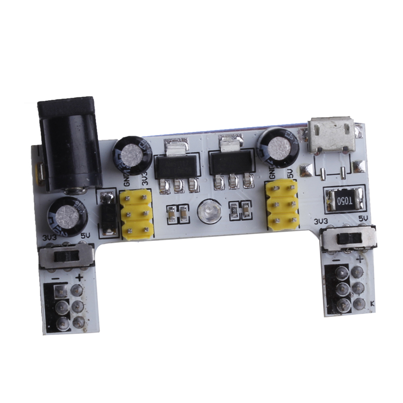 White Breadboard Dedicated Power Module Supply 2-way 5V/3.3V DC for  New -Y103<br><br>Aliexpress