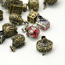 Promotion 20pcs Brass Prayer Box Charms Pendants Mixed Shape and Mixed Color Retro Jewelry case Tibetan Style Pendant For DIY(China)