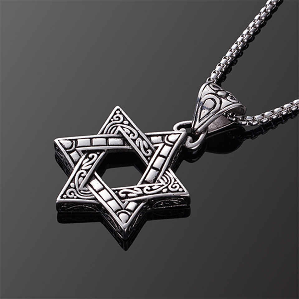 Detail Feedback Questions about 2019 New Classic Hexagram Pendants Necklaces  For Men Women Fashion Punk Stainless Steel Star of David Necklace Charm  Jewelry ... 02bd1eb295e4