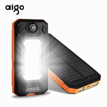 Buy Universal Portable Source Ultra-thin 20000mAh Solar Mobile Power Bank Flashlight Phone Charging Treasure Compass powerbank for $22.36 in AliExpress store