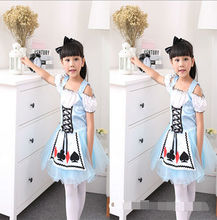 2017 Girls Green Fairy Cosplay Costume Christmas Carnival Halloween Costume Kids Children Tinkerbell Dress