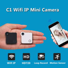Wifi IP Mini Camera C1 720P HD Micro Camera H.264 Motion Detection Body Camera Wireless Mini DV Camera Video Voice Camcorder