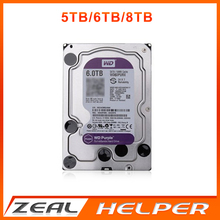 In Stock WD Purple 5TB 6TB 8TB SATA HDD 3.5 inch  SATA3.0 Hard Disk Drive For CCTV Camera DVR NVR Security System