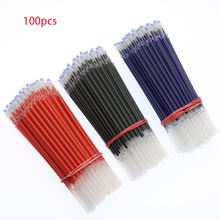 100pcs / Gel Pen Refills Core Set 0.5 Mm Needle Gel Pen Refill Replacement Of Office And School Supplies(China)