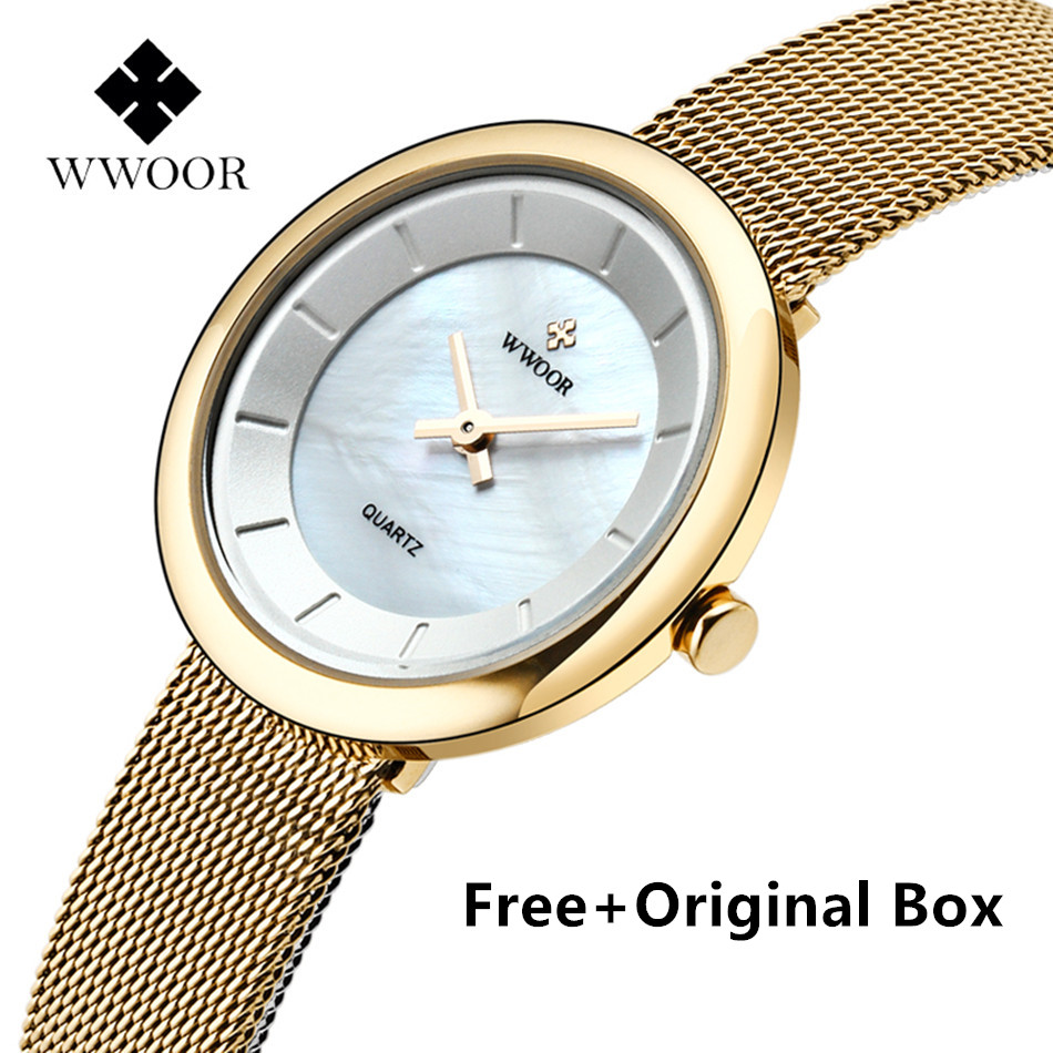 2017 New Luxury Brand WWOOR Watch Women Dress Fashion Ladies Quartz Watches Stainless Steel Simple Female Watch Montre Femme<br><br>Aliexpress